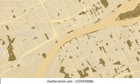 design vintage map city detroit