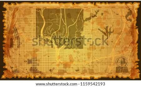 Vintage San Diego Map.Design Vintage Map City San Diego Stock Vector Royalty Free