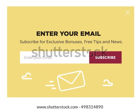 Design Website Form Email Subscribe Stock Vector (Royalty Free