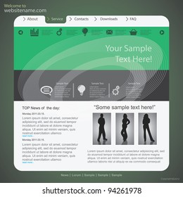 Design website template, vector