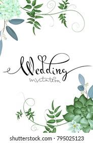 Design of wedding invitation