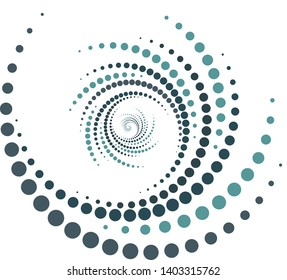 design whirlwind, abstract colorful swirl, two green