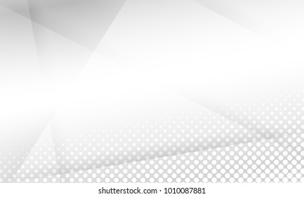 design white light & grey geometric background halftone style. vector EPS10
