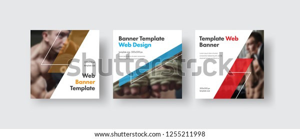 Design White Square Web Banners Social Sports Recreation