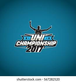 (Design) winner marathon running logo, championship running man logo, sport logo