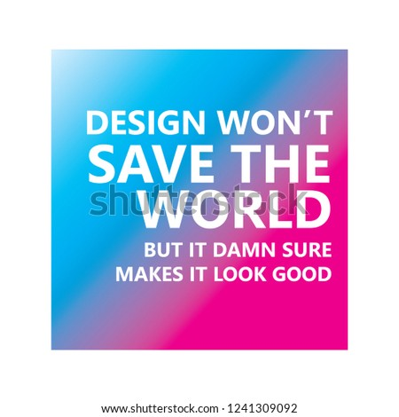 Design Wont Save World Company Logo Stock Vector Royalty Free