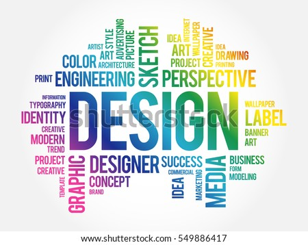 design word cloud collage creative business stock vector royalty