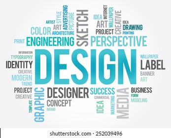 DESIGN word cloud, creative business concept