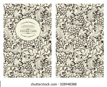 Design for you personal cover. Vine pattern. Vine theme for book cover. Wine texture illustration in style of engraving. Vector illustration.