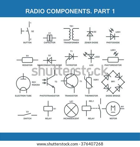 Designation Components    Wiring       Diagram       Vector    Format Stock    Vector     Royalty Free  376407268
