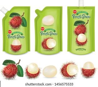 Designed for rambutan juice.Rambutan fruit juice sachet.