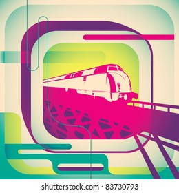 Designed urban poster. Vector illustration.