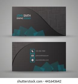 Designer business card set or visiting card set. EPS 10