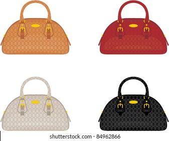 Designer female bags. vector, no gradient, color full