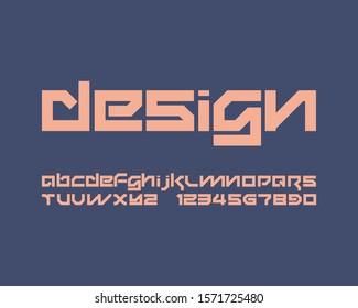 Designer font set in vector format