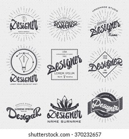 Designer - Insignia sticker can be used as a finished logo, or design, corporate identity presentation