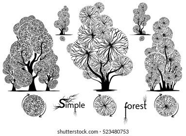 the designer from which it is easy to make a variety of trees