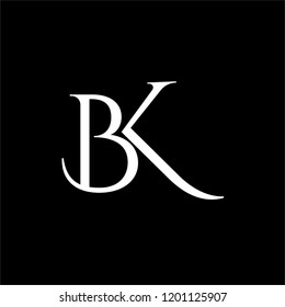 designs logo with letter BK