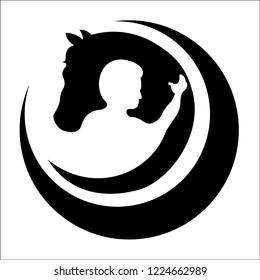 Designs logo Vector horse care
