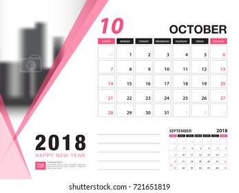 Desk Calendar 2018 Template May 2018 Stock Vector Royalty Free