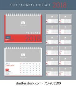 Table calendar template images stock photos vectors shutterstock desk calendar 2018 vector design template set of 12 months saigontimesfo
