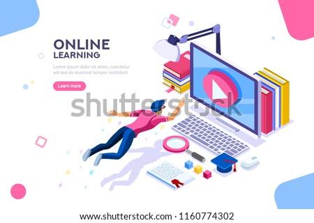 Online College Courses >> Desk Class Seminar Courses Online Tutorial Arkistovektori