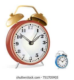 desk clock vector
