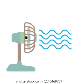 desk cooling fan vector icon illustrator