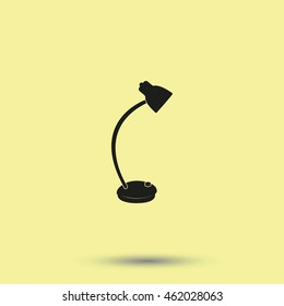Desk lamp icon.