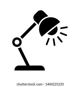 desk lamp icon vector design template
