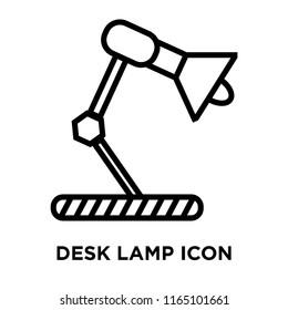Desk lamp icon vector isolated on white background, Desk lamp transparent sign