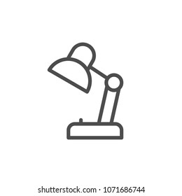 Desk lamp line icon