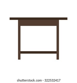 Desk, table, wooden icon vector image.Can also be used for furniture design. Suitable for mobile apps, web apps and print media.