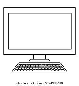 desktop computer display icon