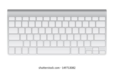 Desktop Computer Keyboard, Technology and Business Concept, Vector Illustration EPS 10.