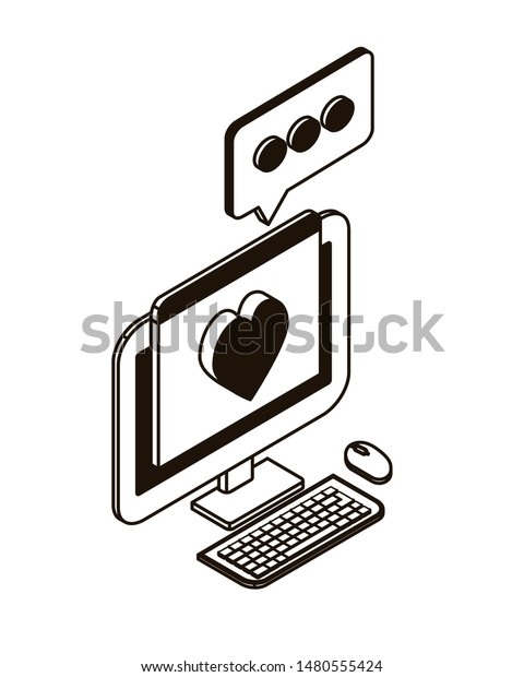 desktop computer screen with email notifications
