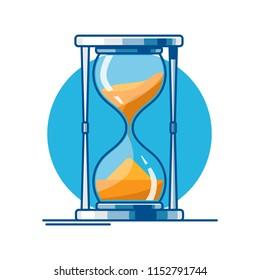desktop hourglass of lines