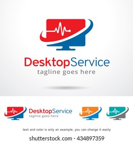 Desktop Service Logo Template Design Vector