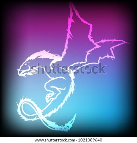 desktop wallpapers free neon dragon stock vector royalty free