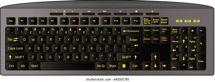 Desktop wireless keyboard for computer