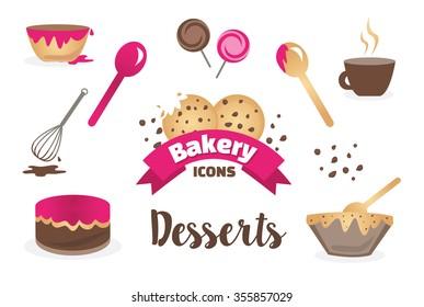 Dessert Bakery Icons