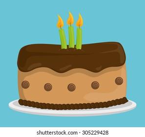 Dessert cake design, vector illustration eps 10.