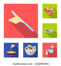 Dessert fragrant flat icons in set collection for design. Food and sweetness vector symbol stock web illustration. - Shutterstock ID 1102990394