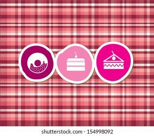 desserts icons over pink background vector illustration