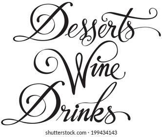 Desserts Wine Drinks