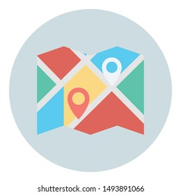 Destination address finder, gps  Isolated Vector icon which can easily modify or edit
