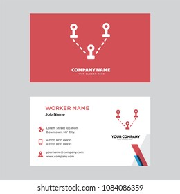 tele business card design template visitingのベクター画像素材