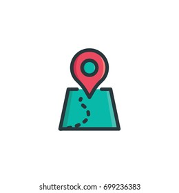 destination icon vector colorful