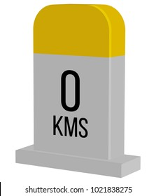 Destination MileStone - Illustration Icon as EPS 10 File