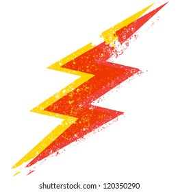 A destroyed style lightning bolt illustration